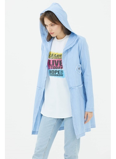 Sementa Denim Içi Tshirtlü Tunik  Buz  Mavi